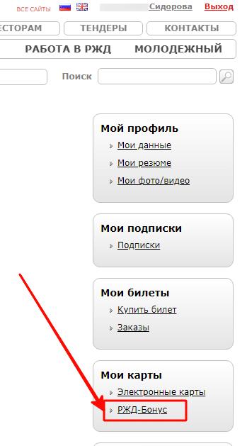 Приобретение билета с помощью РЖД-Бонуса на сайте rzd ru
